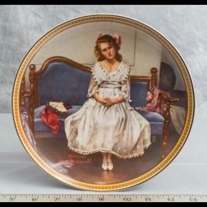 VTG KNOWLES waiting at the dance decorative plate.